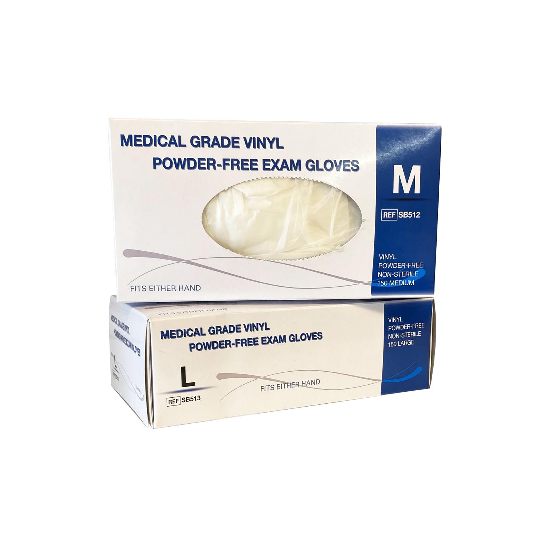 Vinyl Powder-Free Clear Exam Gloves